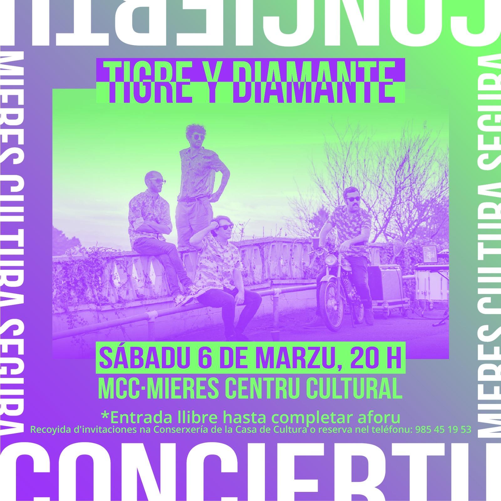 Tigre y Diamante concierto Mieres