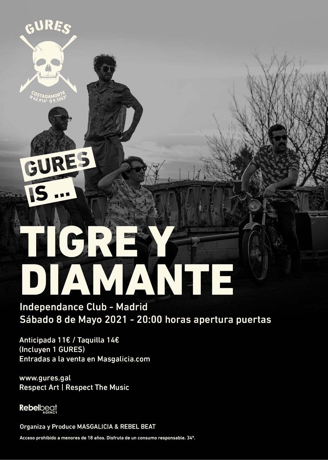 Tigre y Diamante en directo en Madrid